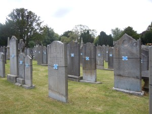 Repaired gravestones in Glasnevin Cemetery