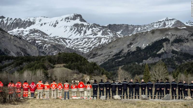 Germanwings plane crash Alps memorial
